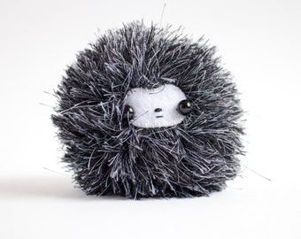 fluffy monster plush toy - handmade stuffed toy