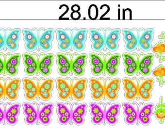 Peel and Stick Butterflies and Flowers Stickers Decals Butterfly Removable Wall Art