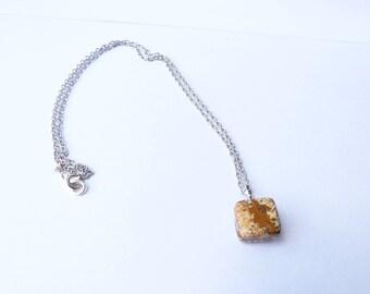 Jasper silver fairy pendant necklace Celtic wicca semi precious stone