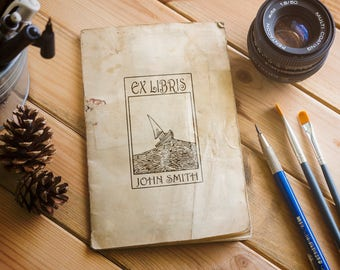 Ex Libris Stamp, The Perfect Stamp for Book Lovers, Stamp your Book wih your Design