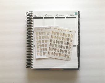 Coffee Foil Planner Stickers!