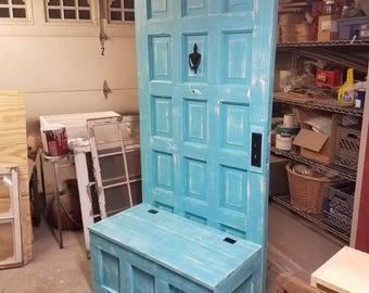 ON SALE Mud room bench - hall tree with storage bench - entryway furniture - entryway decor - custom hall tree - custom mud room - entryway