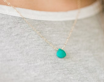 Turquoise Necklace - Turquoise Jewelry - Dainty Necklace - Necklaces for Women - Delicate Necklace - Minimalist Necklace - Girlfriend Gift