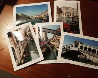 Travel photos notecards- packages of 5 with envelopes