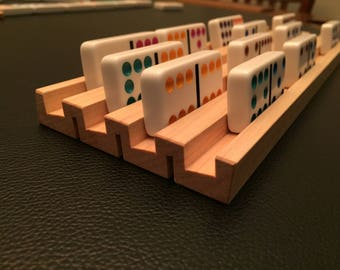 Set of 4 Reversible Domino/Card Holders