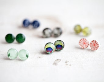 Tiny Stud earring set of 5 pairs, Earring stud set, Everyday Earrings, Gift for sister Small earrings set, Gift for girlfriend, Gift for her