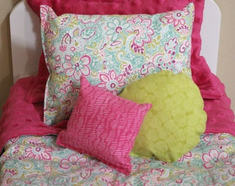 "Jess Inspired 18"" Doll 5 Piece Bedding Set"