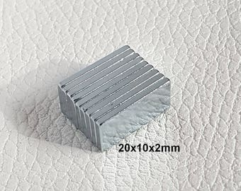 20 x 10 x 2mm - magnet clasp very powerful rectangle box cardboard