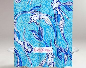 Lilly Pulitzer Mermaid Shower Curtain