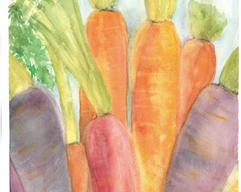 Colorful Carrots Greeting Card