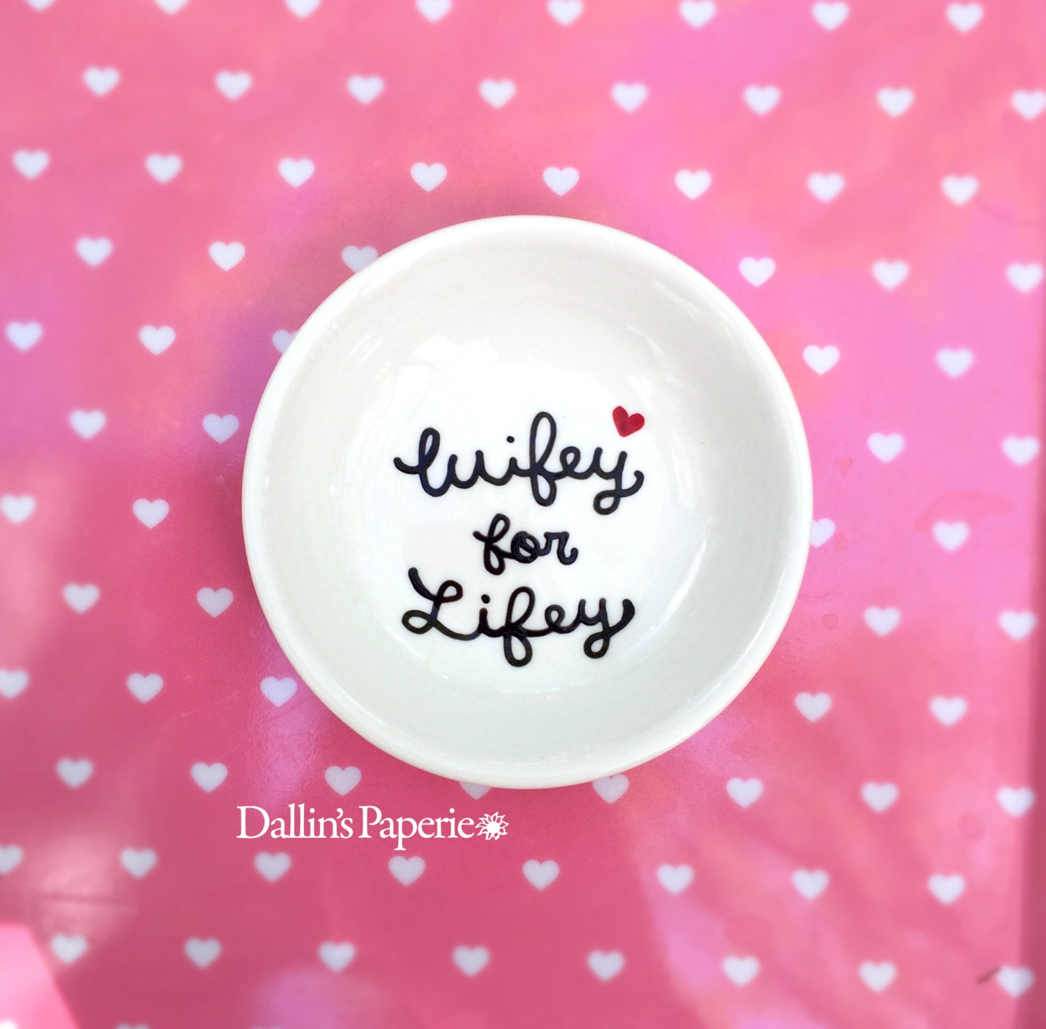 Wifey for Lifey ring dish Engagement RING DISH Personalized