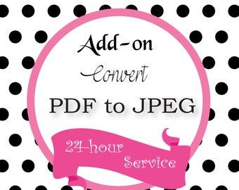 Add-On: Convert PDF to JPEG