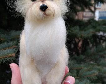 CUSTOM DOG Portrait from Photos, Needle felted Yorkie, Custom Pet portrait, Custom Dog Figurine, Felt Pet Memorial Pet Replica, Yorkie Lover