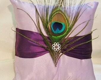 Anello cuscino portatore personalizzato fatto cuscino di raso di nozze