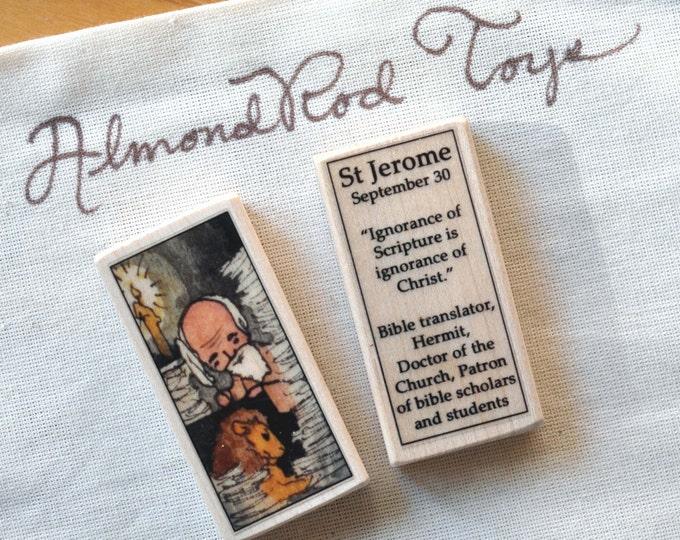 St Jerome Patron Saint Block