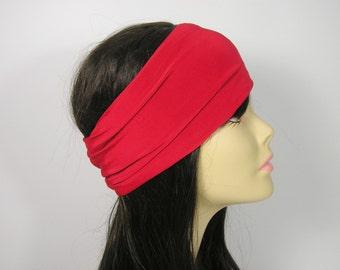 Custom Size Headbands Red Headband Red Lycra Head Wrap Yoga Red Headband Workout Head BandsRed Turban Headwraps Red Hair Wraps Head Scarves