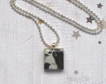 Cavalier King Charles Spaniel Scrabble Necklace, Handmade Dog Scrabble Tile Pendant, Dog Art, Dog Lover Gift, INDIANA JONES the Cavalier