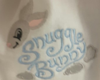 Embroidered Bib with Snuggle Bunny