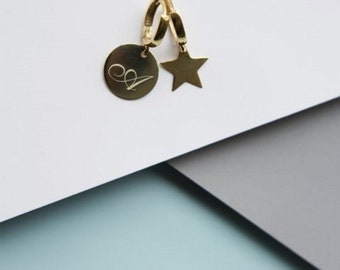Personalized Initials Earring, personalized earring, initial earring, engraved earring, custom earring 925k sterling silver