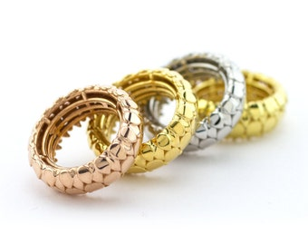 Leafy rings (a set of four)