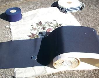 1 yd. of 6 3/8 inch petersham ribbon in marine blue