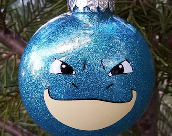 Blastoise Face Pokemon Go Parody Christmas Holiday Ornament  * Add Year and/or Name for FREE to back  * Wartortle * Squirtle *