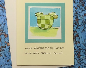 """Turtle Get Well~ """"Hope you're back up on your feet really soon!"""""""