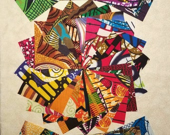 """African fabric 40 different 4""""x 4"""" squares"""