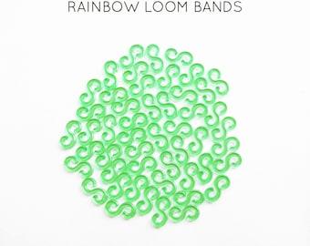 50 lobster S green rainbow loom bands