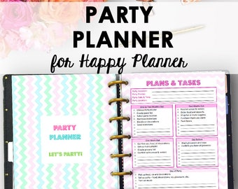 Happy Planner Party Planning Printable, Party Planner Printable, Happy Planner Event Planning Inserts, Checklist, 7 x 9 Instant Download
