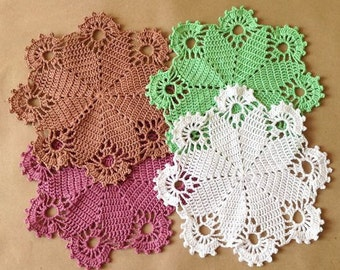 Doily small crochet, Doilies crochet, Crochet doily, Home decor, Lace doily, Handmade, For housewares, Cotton doily, Table decoration