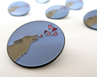 Howling Wolf Gift Pin -  Wolf Pin