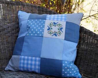 Spring WREATH pillow mini cross stitch