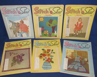 STITCH N SEW 1970 Entire Year Set of 6 issues Great Sewing and Crafting Fun
