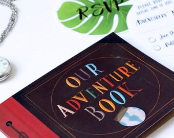 Up Pixar Wedding Invitation Our Adventure Book, RSVP, Wedding Stationery, Wedding Invitation - DEPOSIT