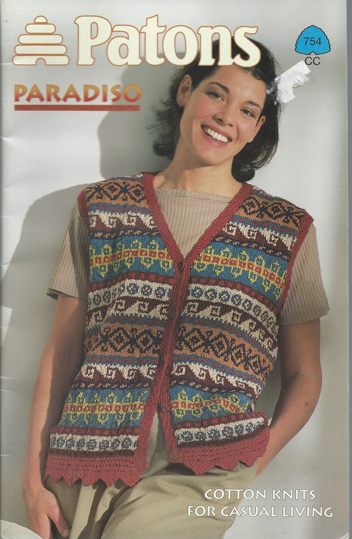 Summer Cotton Knit Patterns - Patons Paradiso Cotton - LADIES COTTON ...