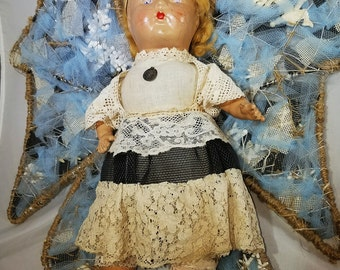 Angel, mixed media doll