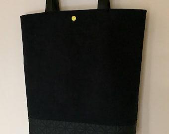 Handbag Black suedine imitation