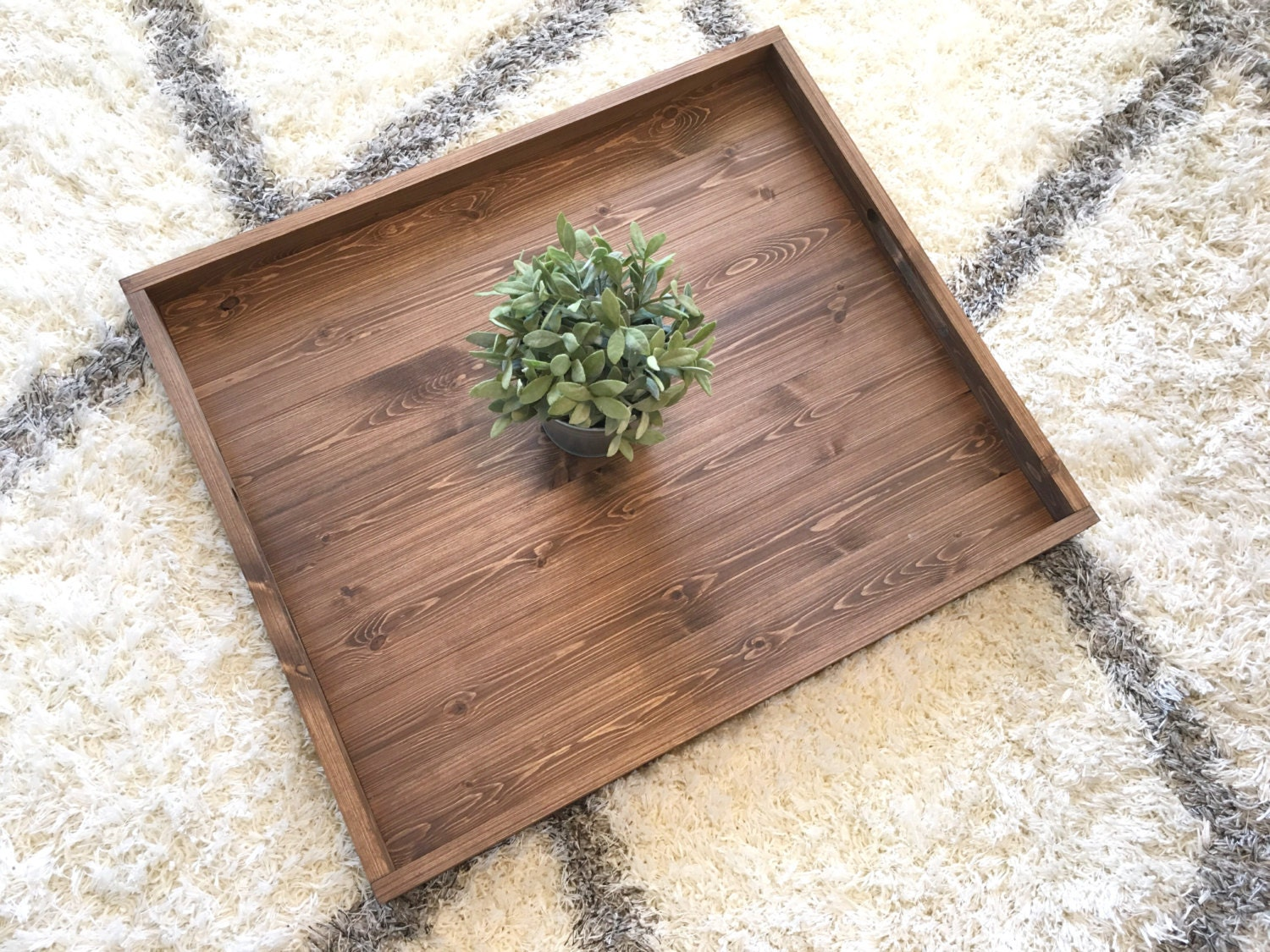 Rustic Wooden Ottoman Tray, Ottoman Tray, Wooden Tray, Rustic Decor,  Farmhouse Decor, Rustic Home Decor, Serving Tray, Coffee Table Tray
