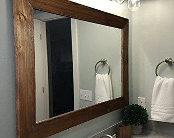 Innovative Rustic Bathroom Mirrors Set