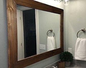 Innovative Rustic Bathroom Mirrors Set