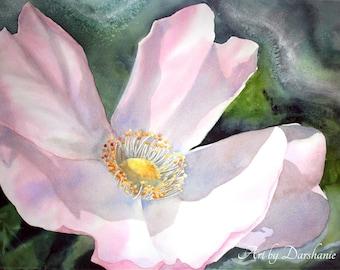 Silver Glow - Original Watercolor by Darshanie Sukhu