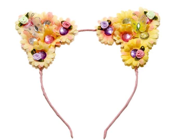 Spring Cat Ear Headband