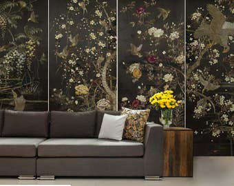 japanes wallpaper, chinese wall mural, chinese decal, chinese wallpaper, texture wallpaper, pattern wallpaper, japnes wall decal