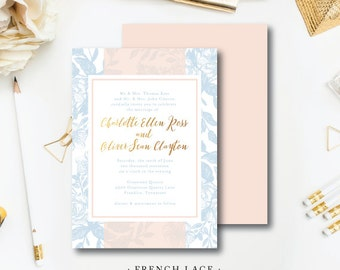 French Lace Wedding Invitations