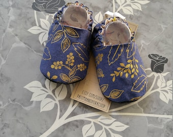 Baby Shoes - Queen Anne (baby shoes, baby mocs, baby shower gift, luxe baby, mothers day)