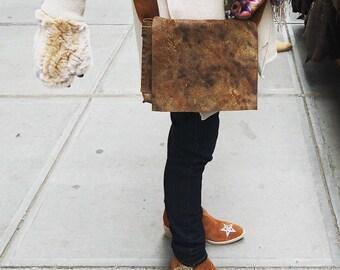 Leather satchel, Distressed leather messenger, Soft lightweight mini laptop bag, Handmade leather iPad bag, Custom leather bag
