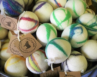 Wool Felted Dryer Balls WHOLESALE 12 Sets of Three Pet or Kid Toys Felt Balls