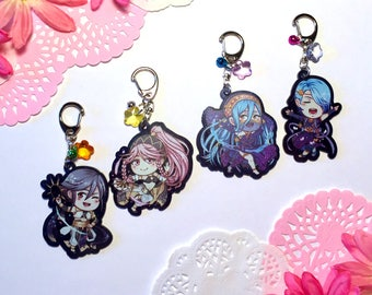 Fire Emblem Performing Arts Inspired Black Glitter Keychains