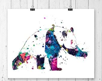 Watercolor Panda  Bear #9 Fine  Art Print, Poster, Wall Art, Home Decor, Kids Wall Art, Play Room Wall Art, Nursery Wall Art, Archival print